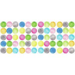RoomMates Water Colour Dots Peel & Stick Wall Decals