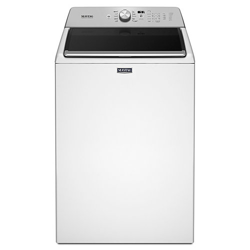 5.4 cu. ft. Top Load Washer with Deep Fill Option and PowerWash Cycle in White