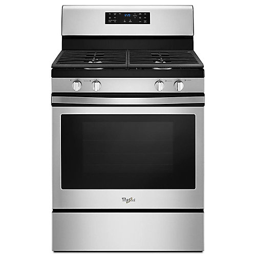 5.0 cu. ft. Gas Range with Self-Cleaning Convection Oven in Stainless Steel