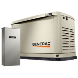 Generac 11,000W (LP)/10,000W (NG) Air Cooled Standby Generator with 16 Circuit 100 Amp Transfer Switch & Wi-Fi
