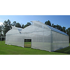 12 Feet . X 40 Feet . White Tropical Weather Shade Clothes With Grommets -50% Shade Protection