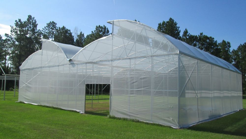 12 Feet . X 60 Feet . White Tropical Weather Shade Clothes With Grommets -50% Shade Protection