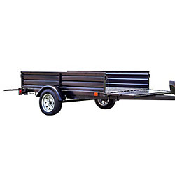 Detail K2 Single Axle Multi-Utility Trailer With Tilt And Extension Capabilities