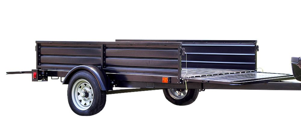 Detail K2 DK2 Single Axle Multi-Utility Trailer With Tilt And Extension Capabilities