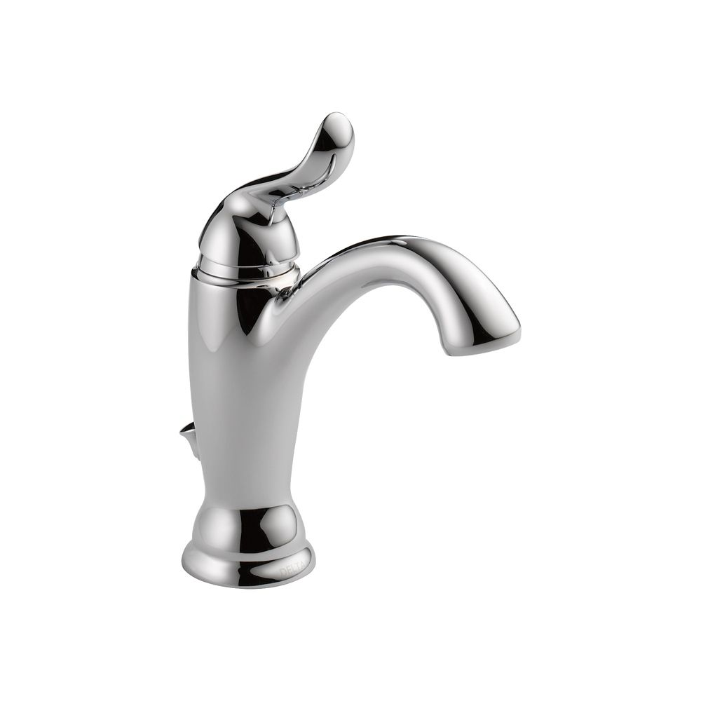 Delta Linden Single Hole 1-Handle Mid Arc Bathroom Faucet in Chrome with Lever Handle