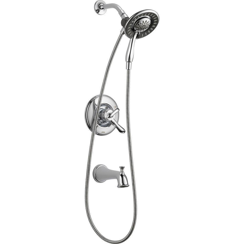 Linden Monitor 17 Series Tub and Shower with In2ition Two-in-One Shower, Chrome