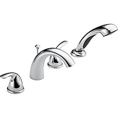 Classic Roman Deck-Mount Tub  Shower Faucet in Chrome