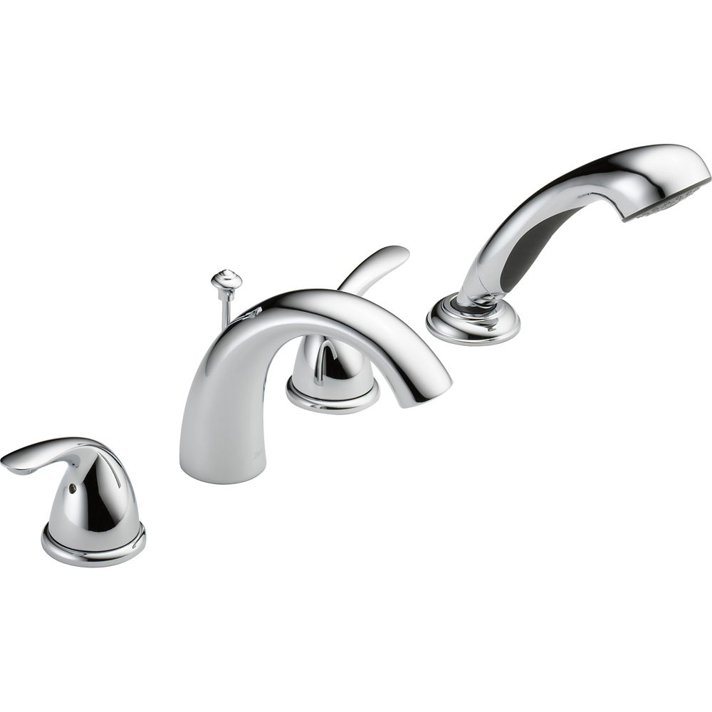 Classic Roman Deck-Mount Tub  Shower Faucet in Chrome