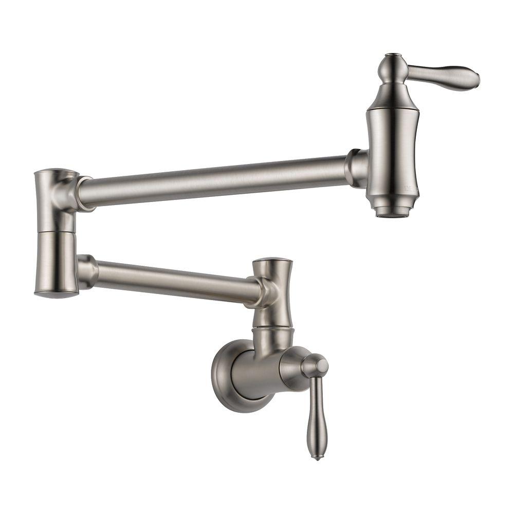 Pot Filler Faucet - Wall Mount, Stainless Steel