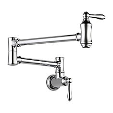 Wall-Mount Pot Filler Faucet in Chrome