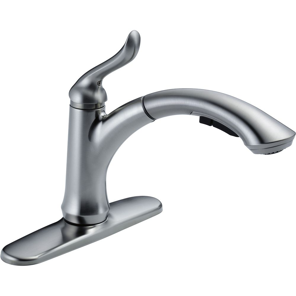 Single Handle Water-Efficient Pull-Out Kitchen Faucet, Arctic Stainless