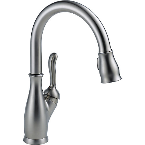 Single Handle Pull-Down Kitchen Faucet, Arctic Stainless