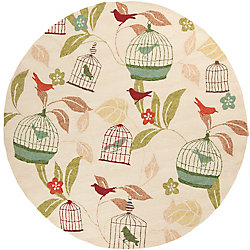 Home Decorators Collection Anamudi Ivory 8 Feet x 8 Feet Round Indoor/Outdoor Area Rug
