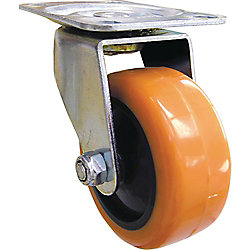 Everbilt 3 inch Orange TPU Swivel Caster with 225 lb. Load Rating