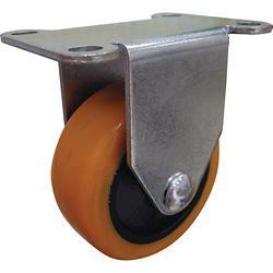 Everbilt 3 inch Orange TPU Rigid Caster with 225 lb. Load Rating