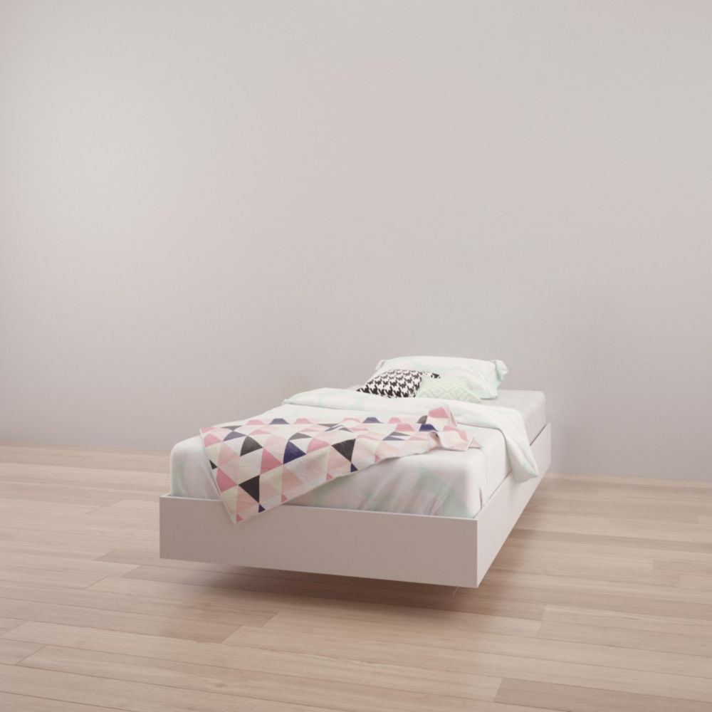 343903 Twin Size Platform Bed, White