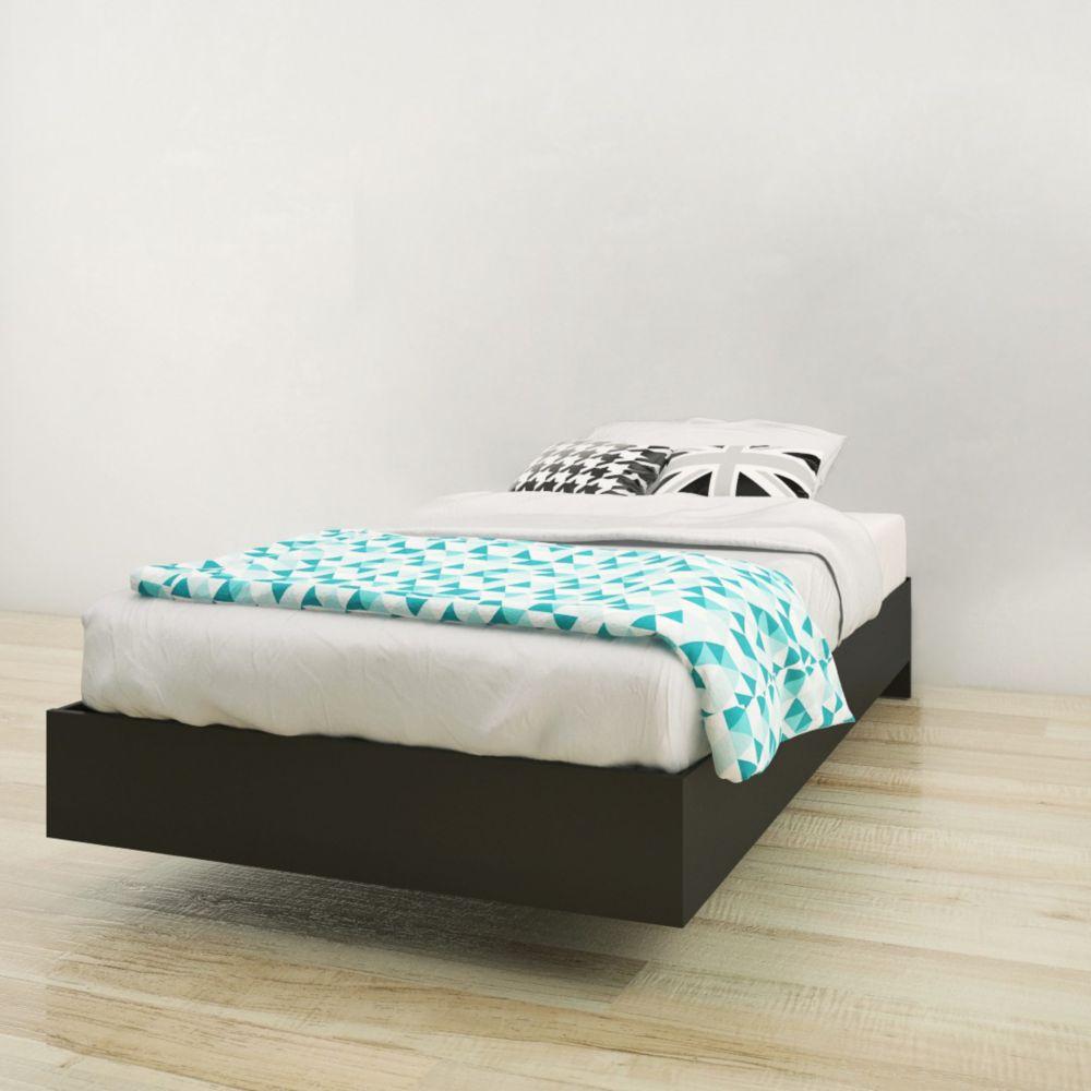 343906 Twin Size Platform Bed, Black