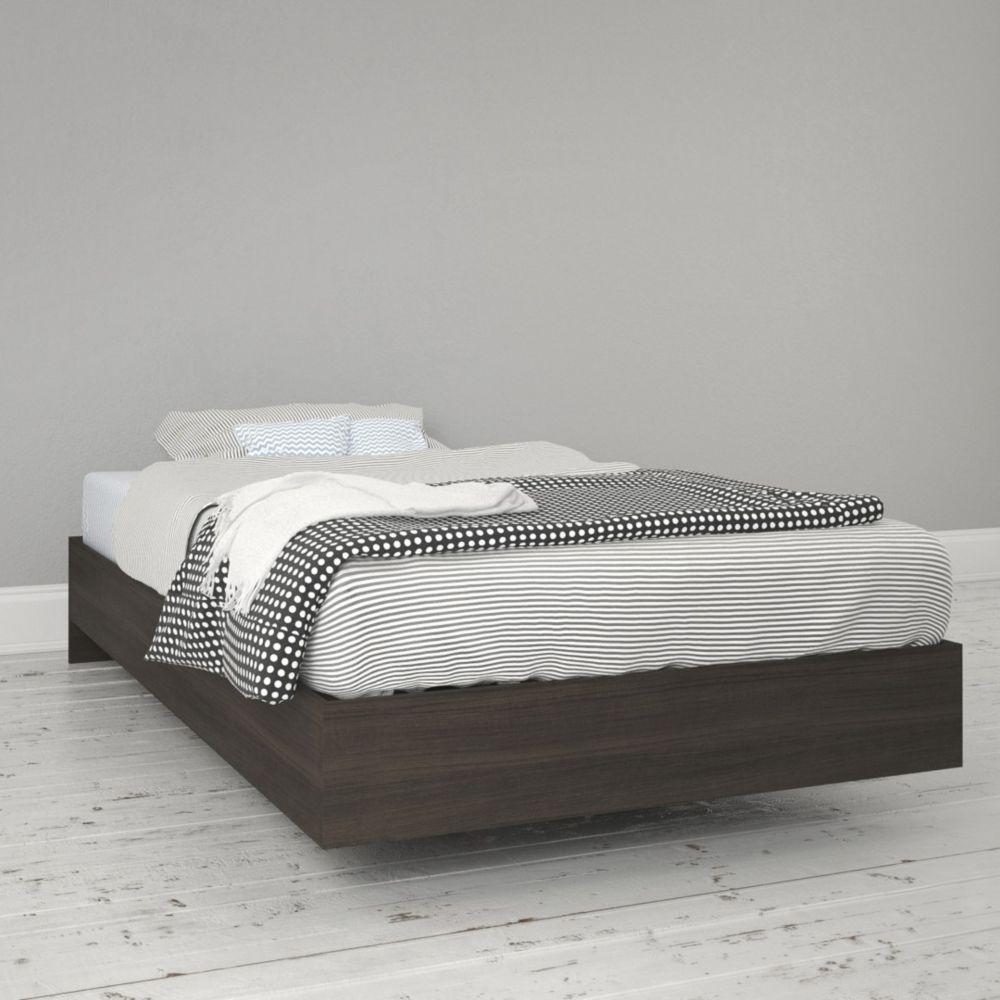 343930 Twin Size Platform Bed, Ebony