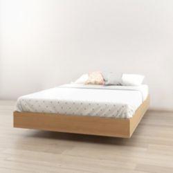 Nexera 345405 Full Size Platform Bed, Natural Maple