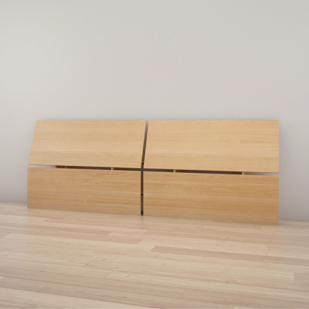 345905 Queen Size Panoramic Headboard, Natural Maple