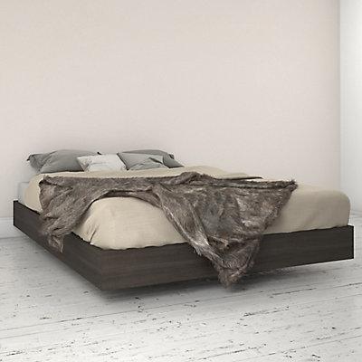 346030 Queen Size Platform Bed Ebony
