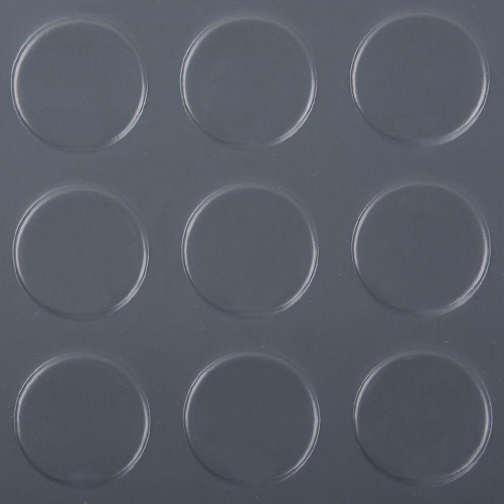 7,5 pi. X 17 pi. Gris vinyle Plancher