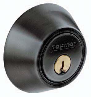 Single Cylinder Matte Black Deadbolt