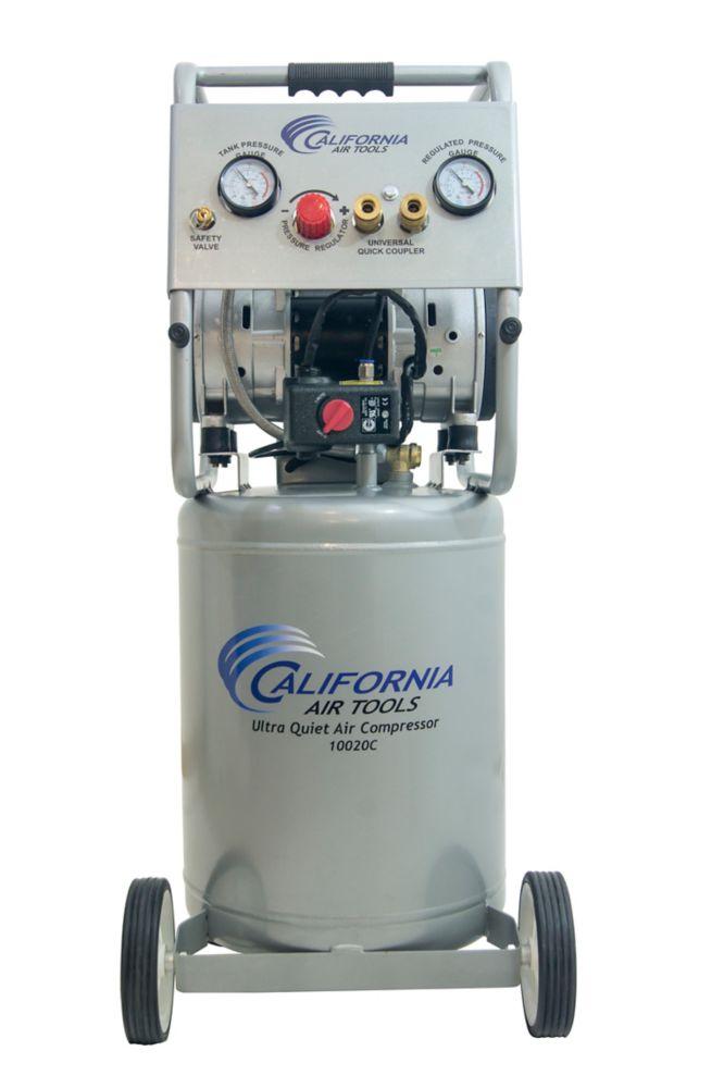 10020C Ultra Quiet  & Oil-Free  2.0 Hp, 10.0 Gal. Steel Tank Air Compressor