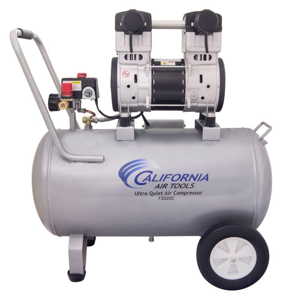 15020C Ultra Quiet  & Oil-Free  2.0 Hp, 15.0 Gal. Steel Tank Air Compressor