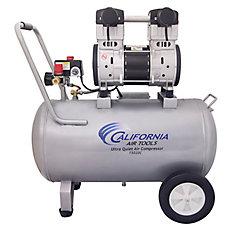 California Air Tools 15020C Compresseur d'air avec réservoir en acier, sans huile, ultra silencieux,