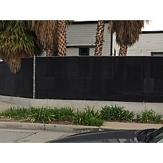 7.8 ft. x 25 ft. Knitted 88% Privacy Cloth in Black