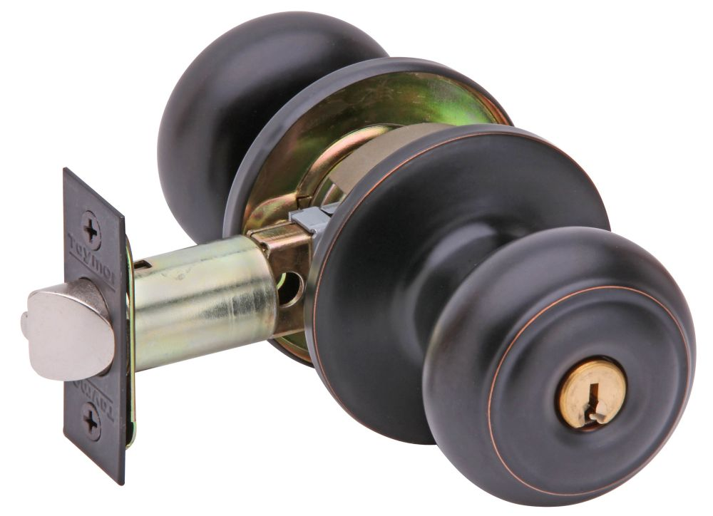 Manchester Dome Aged Bronze 6-1 Keyed Different Entry Knob
