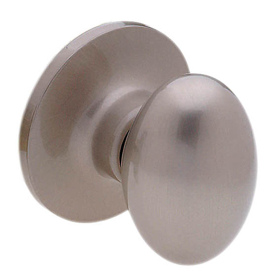 Coventry Oval Knob - Dummy, Satin Nickel