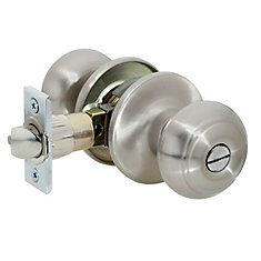 Manchester Satin Nickel Privacy 6-1 Dome Knob