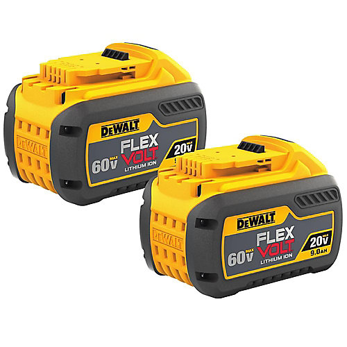 20V/60V MAX FLEXVOLT Lithium-Ion 9.0 Ah Battery (2 Pack)