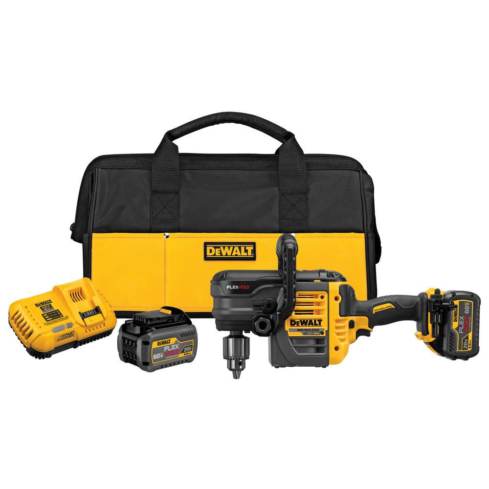 DEWALT FLEXVOLT DCD460T2 60V MAX 1/2-Inch VSR Stud and Joist Drill Kit