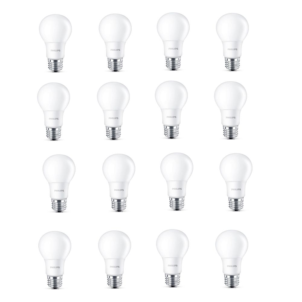 Philips LED 60W A19 Daylight Non Dimmable(5000K) - Case of 16 Bulbs