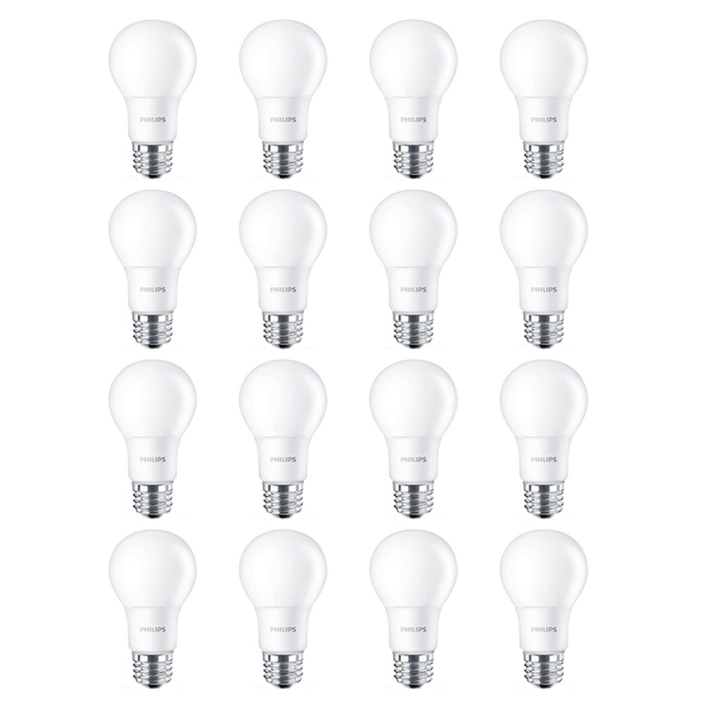 Philips LED 60W A19 Soft White Non Dimmable(2700K) - Case of 16 Bulbs