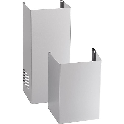 9 ft. Ceiling Duct Cover Kit in Stainless Steel