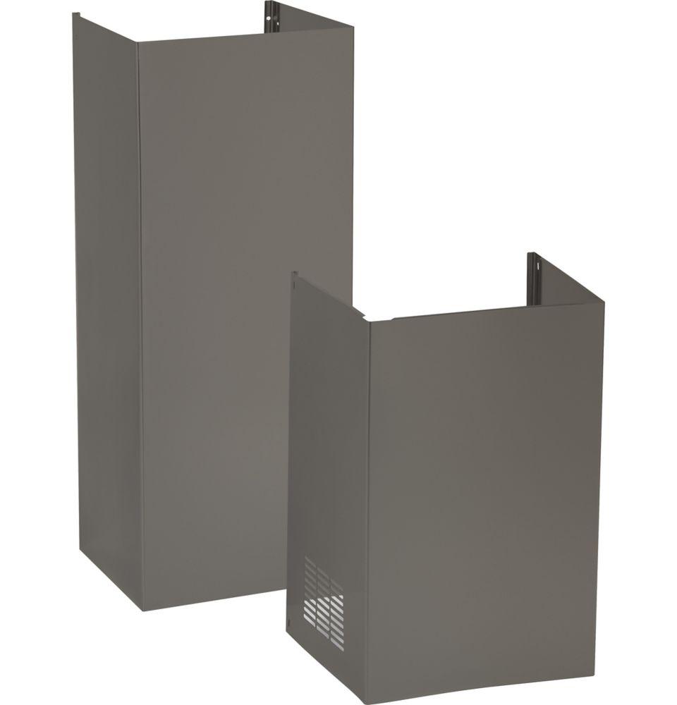 Cache Pour Conduit De Cheminée trousse de cache-conduit pour plafond de 9 pi, pour les hottes de cuisine-  ardoise