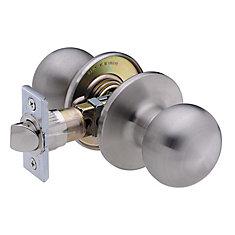 Villa Ball Lifetime Satin Stainless Steel 6-1 Passage Knob
