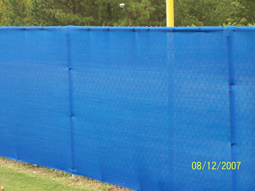 Knitted Privacy Cloth 5.8 Feet  X 10 Feet - Blue - 88%