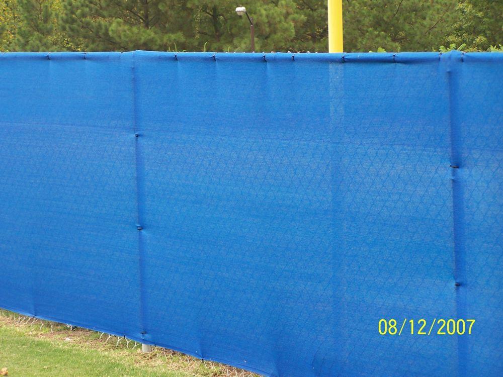 Knitted Privacy Cloth 5.8 Feet  X 20 Feet - Blue - 88%