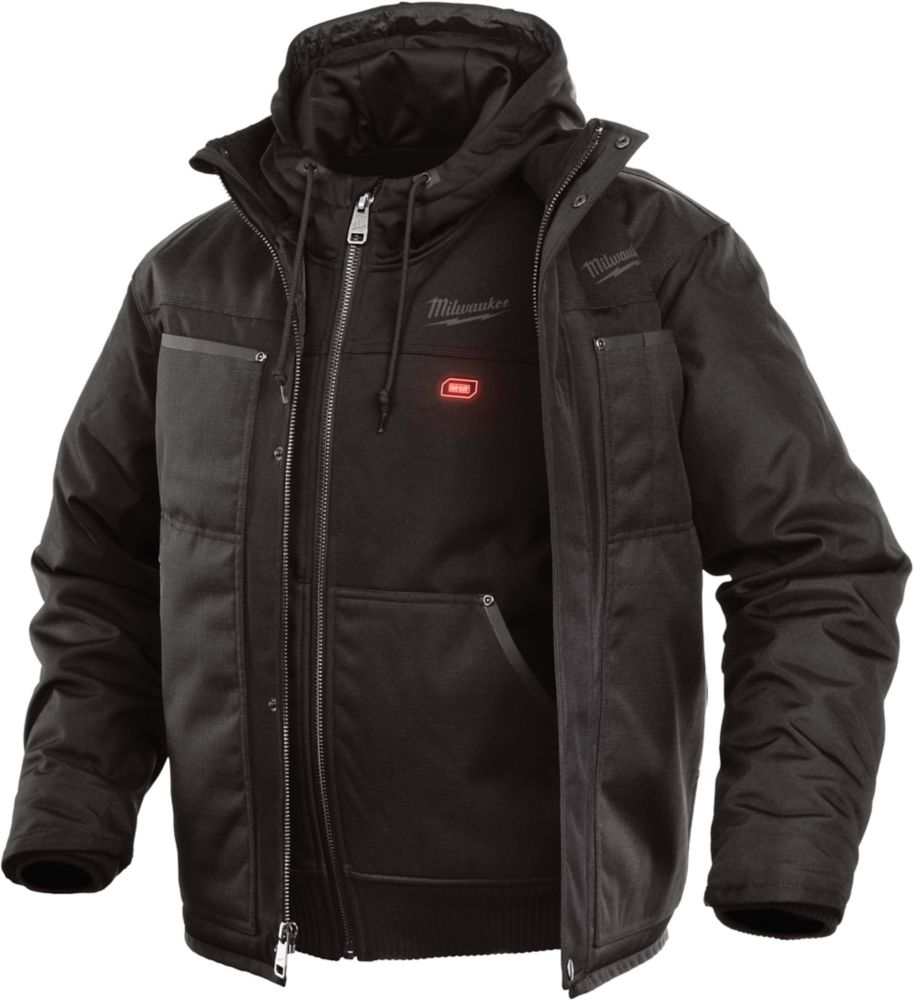 Milwaukee Tool M12 Heated 3-in-1 Jacket Only - Black - 2XL