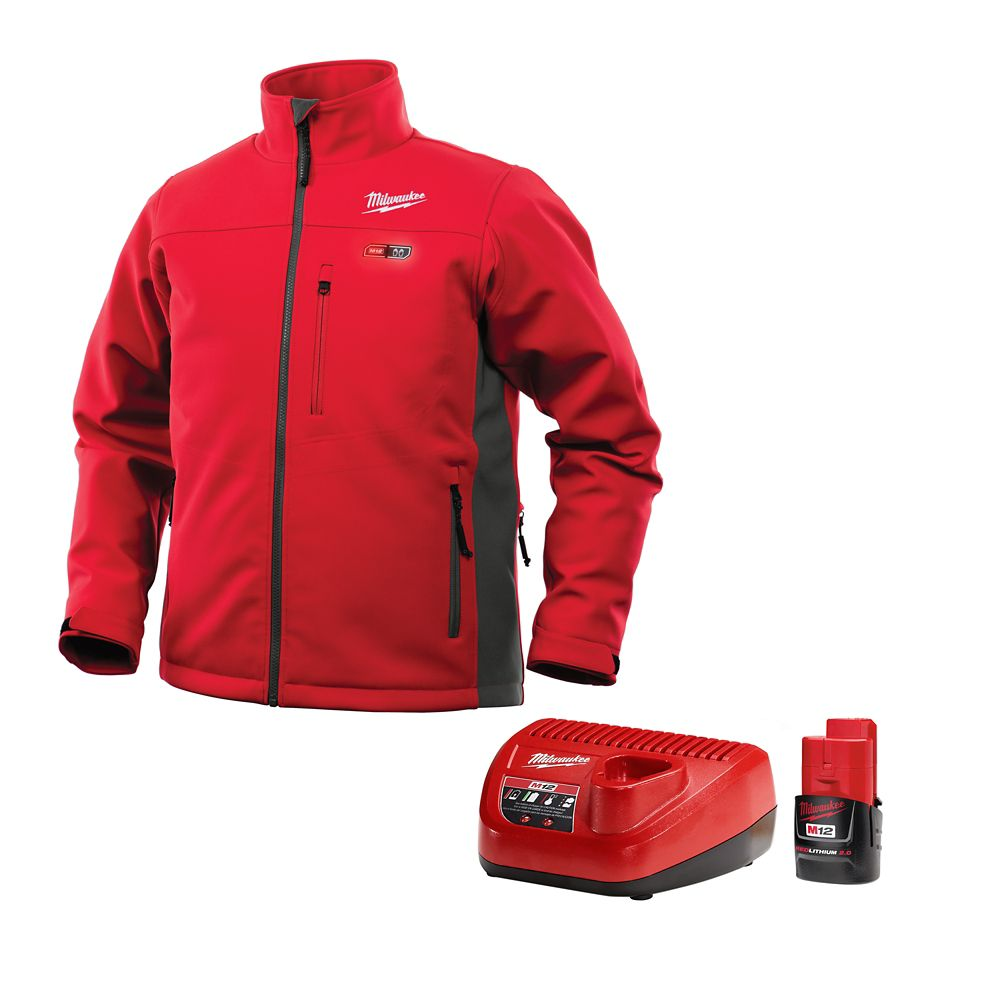 M12 Heated Jacket Kit - Red/Gray - Medium