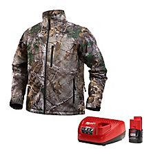 Ensemble de veste chauffante sans fil de style camouflage Realtree Xtra M12 - P