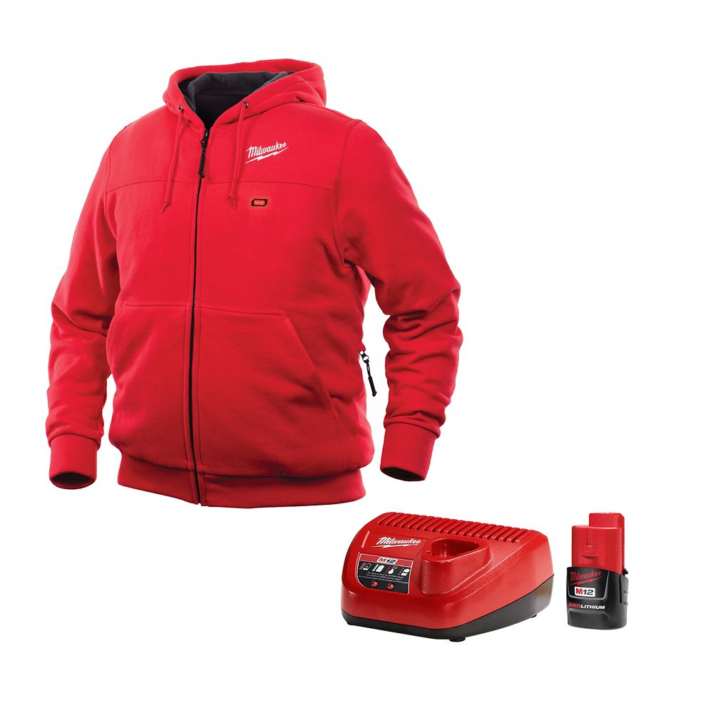 Milwaukee Tool M12 Heated Hoodie Kit - Red - Large
