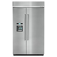 48-inch W 29.5 cu. ft. Built-In Side by Side Refrigerator in Stainless Steel - ENERGY STAR®