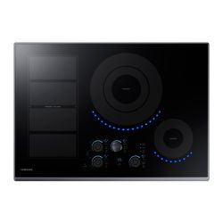 Samsung 30-inch Induction Cooktop in Black Stainless Steel with 5 Elements and Flex Zone Element
