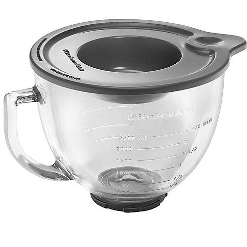 5-Qt. Tilt-Head Glass Bowl